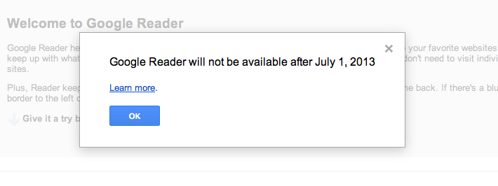 Google forgets customers (again) and shuts down Reader
