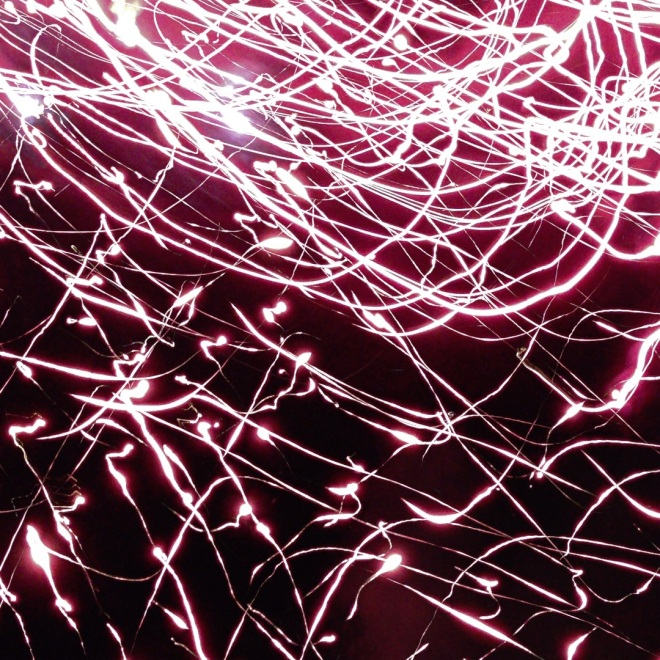 Light painting photo of fireworks